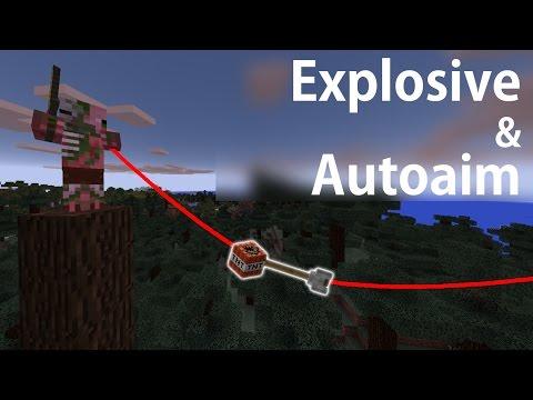 EXPLOSIVE AUTO AIM BOW tutorial (Command blocks) - Minecraft PE