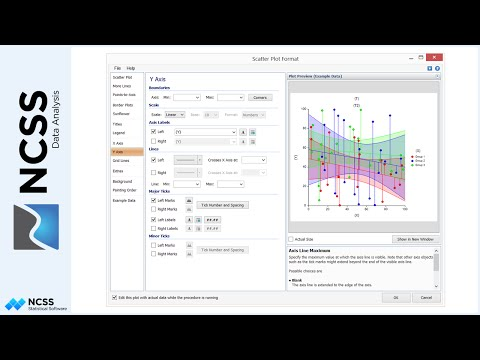 Specifying Plot Axes and Grid Lines in NCSS
