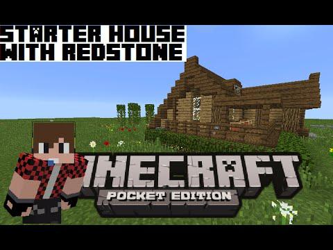 Minecraft PE | Keralis' Starter House with redstone