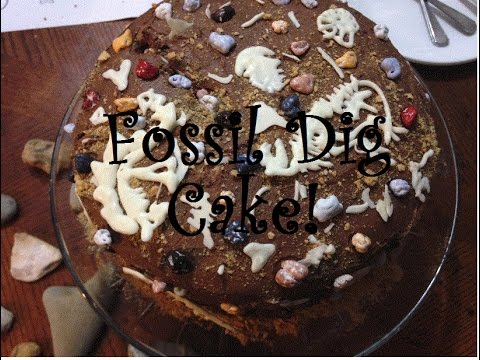 Prehistoric Fossil Dig Cake