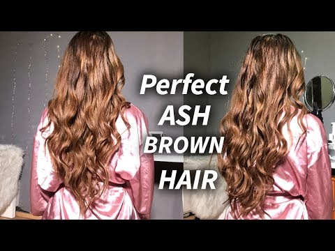 DIY ASH BROWN HAIR AT HOME ♡ TONE ORANGE/BRASSY HAIR