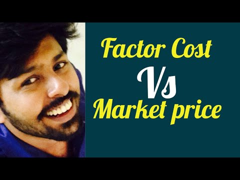 Difference between Market price and Factor cost in national income :IAS Economics lectures