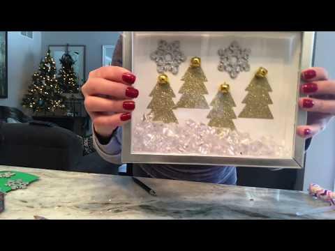 DIY Dollar Tree Holiday Light up Shadow Box