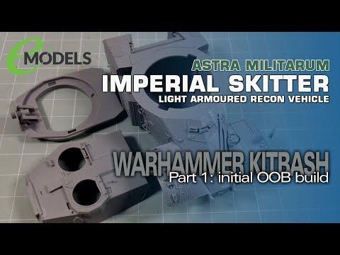 Warhammer 40K Imperial Skitter (AML-90 Kitbash) 1:  Initial OOB Construction