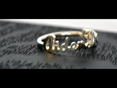 Mother's Day Gift Idea | Custom Personalized Name Rings