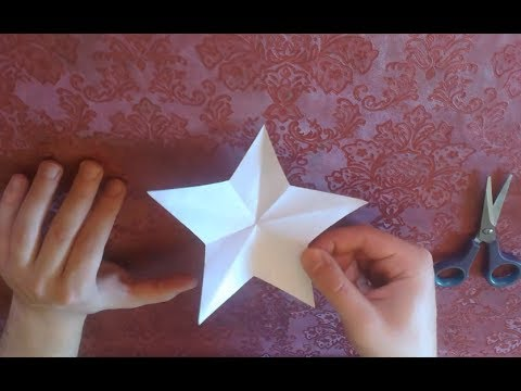 How To Make a Perfect Paper Star With TWO Cuts Only!