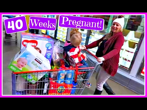 40 WEEKS PREGNANT: NATURALLY INDUCING LABOR IN COSTCO! (DAY 783)