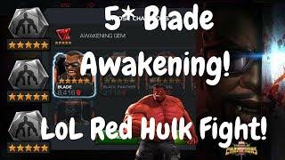 Awakening 5* Blade + Red Hulk Fight! - Marvel Contest Of Champions