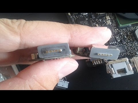 2010 Macbook Pro 13 Replacing Magsafe Board and Cleaning Logic Board part 2