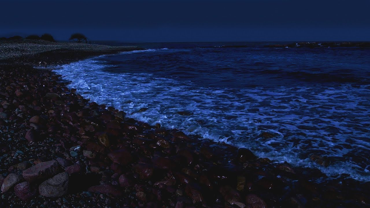 Sleep Better with Waves on a Dark Night - Spiaggia il Golfetto Beach - Super Relaxing Ocean Sounds