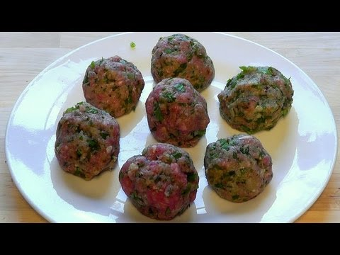 Meatballs lamb mince chilli & peppers How to make recipe