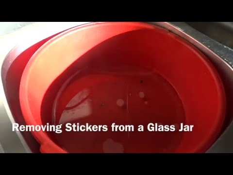 Removing Sticker Remains from a Glass Jar