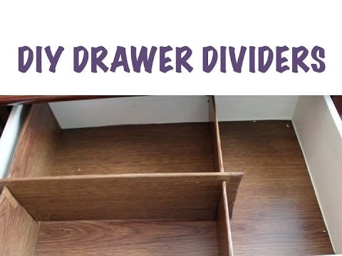 CHEAP ORGANIZING: DIY Drawer Dividers
