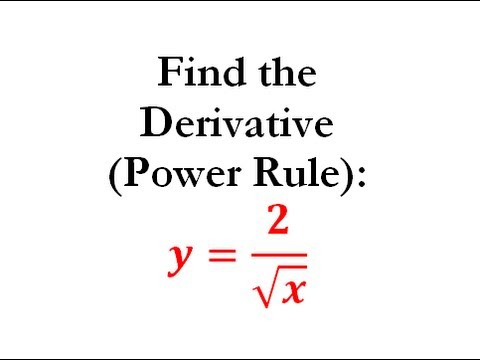 Power Rule of Derivatives (Calculus) - Worked Example #4