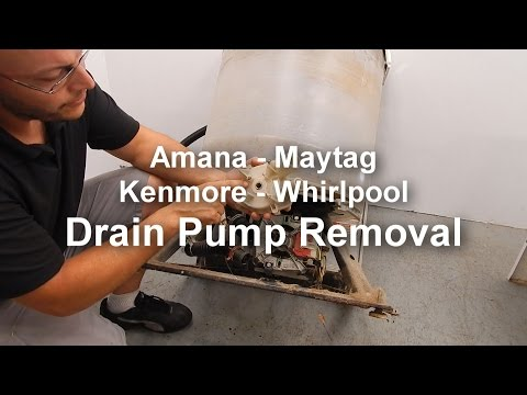 Maytag / Amana Washer Not Draining or Spinning - Removing the Drain Pump