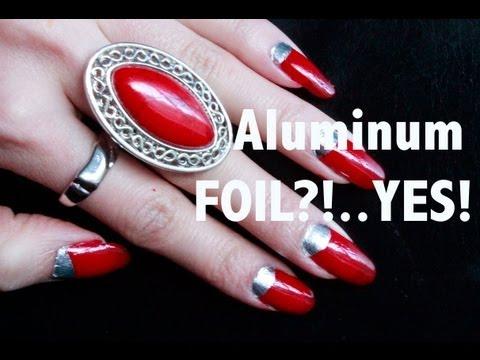 Aluminum Foil Nail Art !