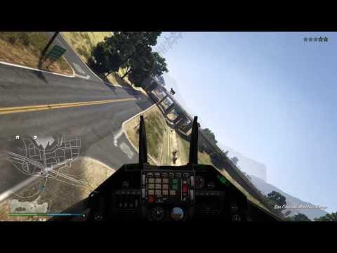 GTA Online / Fighter Jet Flying Under A Bridge / Tight  Squeeze
