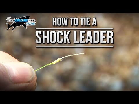 How to tie Nano Fishing Line to a Shock Leader | TAFishing