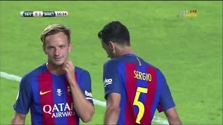 الشوط الثاني اشبيلية برشلونة 0 2 نهائي السوبر الاسباني   YouTube