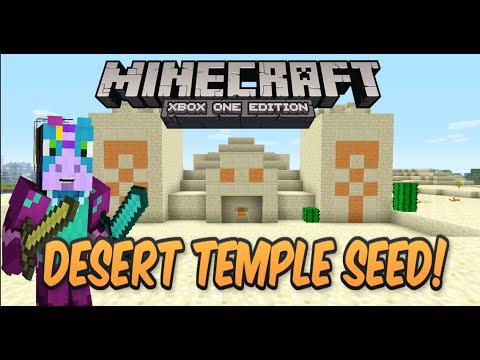 Minecraft Xbox One/PS4 Desert Temple At Spawn Seed