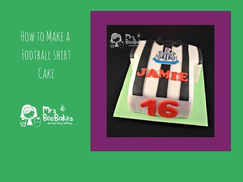 How to make a football shirt cake