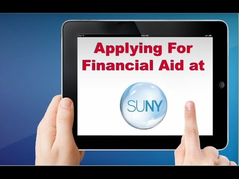 Applying For Financial Aid at SUNY 2016-17