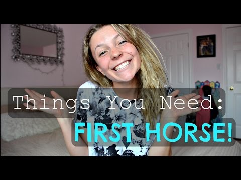 Things You Need for Your First Horse!