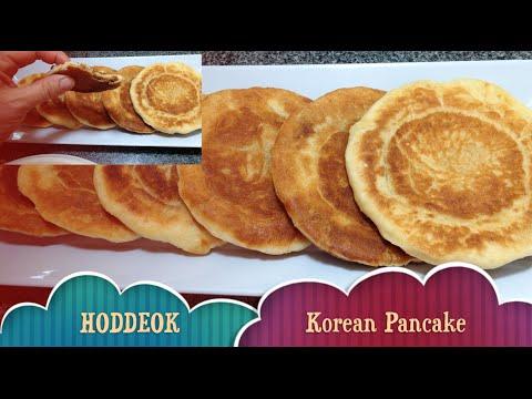 Hoddeok or Hotteok (호떡) Korean Sweet Pancake Street Food Video Recipe cheekyricho