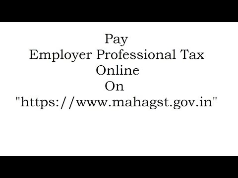 (PTEC) Payment of Professional Tax For EmployeR Online 2018