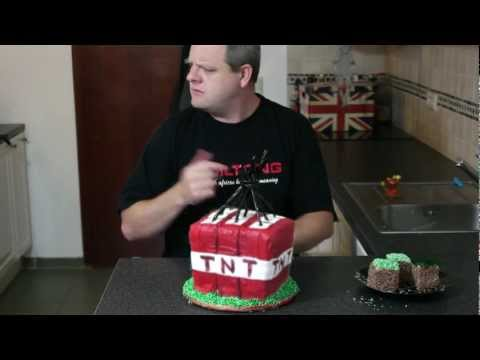 Minecraft TNT cake explosion