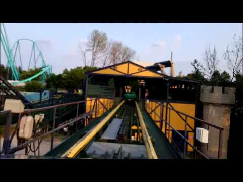 Canada's Wonderland: Dragon Fire / On Ride Front Row POV / July 11, 2015