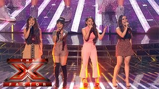 4th Impact performs for their place in the competition | Week 5 Results | The X Factor 2015