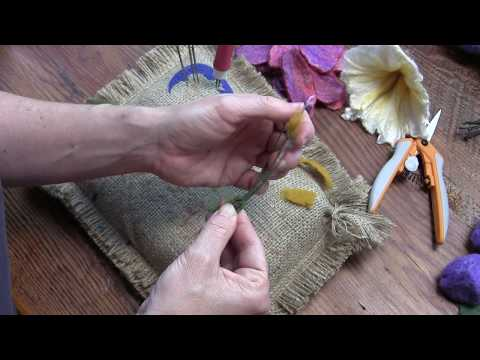 Wet Felted Flower Part Two: Flower Construction