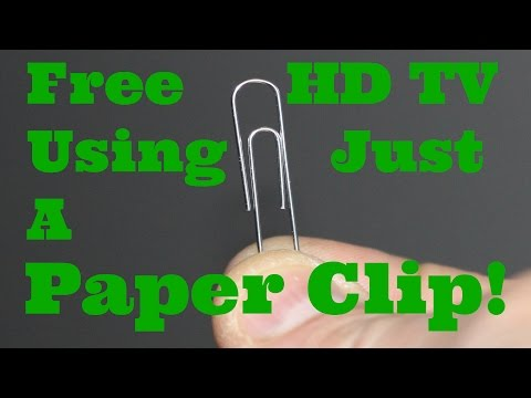 How To Watch Free HD TV  Using Only A Paper Clip An Introduction To Digital  Over The Air TV