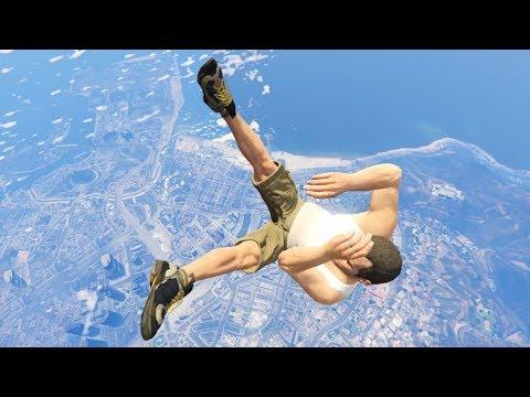GTA 5 CRAZY Jumps/Falls Compilation #8 (Grand Theft Auto V Fails Funny Moments)