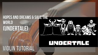 How to play Fallen Down (Reprise) by Toby Fox on Violin