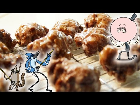 How to Make DOUBLE-GLAZED APPLE FRITTERS from Regular Show! Feast of Fiction S4 Ep11