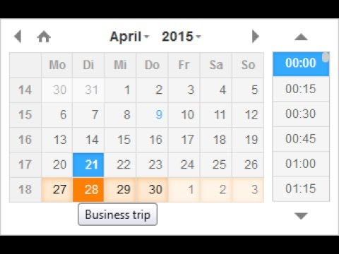 Input date and time in HTML& Javascript - DateTimePicker jQuery