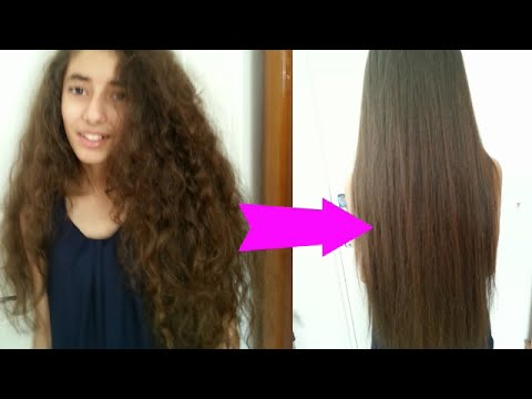 How I straighten my natural curly hair at home
