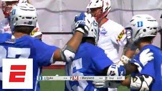 No. 4 Duke knocks off defending champion No. 1 Maryland in NCAA men