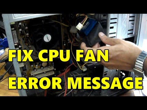 FIX CPU fan error message of your computer