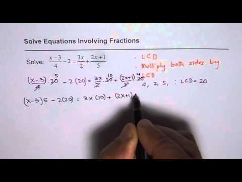 Solve Equation with Fractions on Both Sides