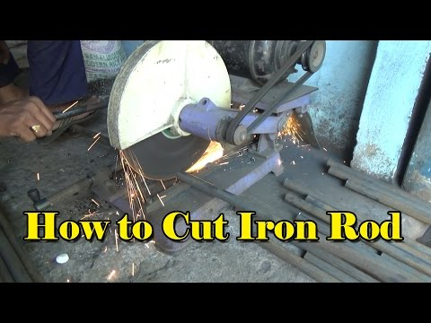 How to Cut Iron Rod? | Welder Cutting the Iron Rod