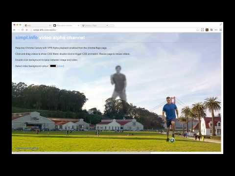 Google Chrome alpha transparency screencast