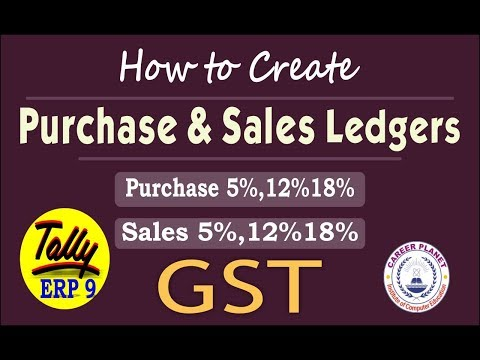 How to create GST Purchase and Sales Ledger in Tally ERP 9 Part-98  Learn Tally ERP 9 with GST