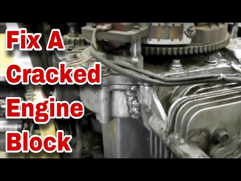 How To Fix A Cracked Engine Block On A Kohler Courage - with Taryl