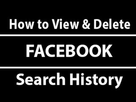How to View and Delete Your Facebook Search History [ Simple ]