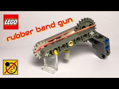 working LEGO mini rubber band gun
