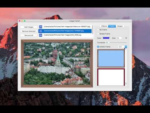 How to frame photos on Mac OS X