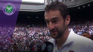 Marin Cilic Wimbledon 2017 final runner-up interview